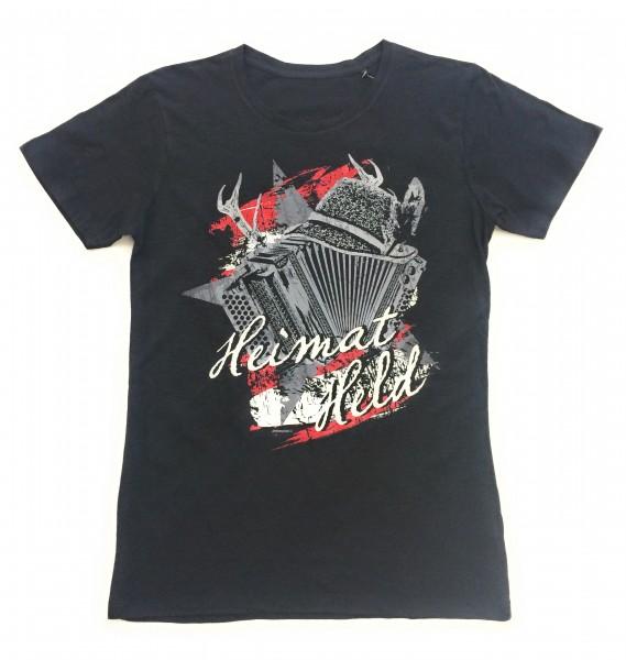 """Herren T-Shirt """"Heimat Held"""" schwarz/rot"""