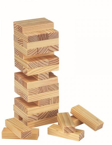 Wackelturm in Holzschachtel