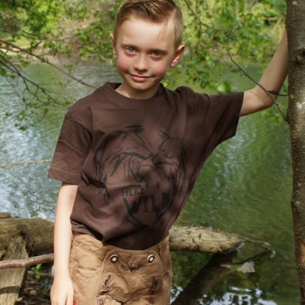 Cooles Trachtenshirt für Jungs aus der Kollektion Herzwild
