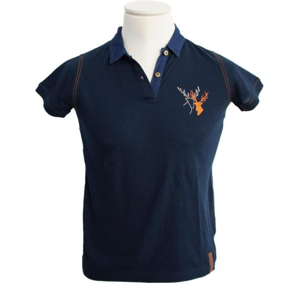 Damen Polo-Shirt Hirschpaar