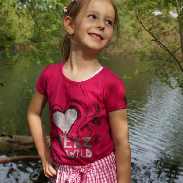 """Mädchen T-Shirt """"Herzwild"""""""