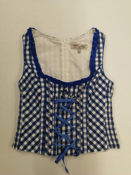 Damen Mieder Rosalinde blau/weiß Gr. 34