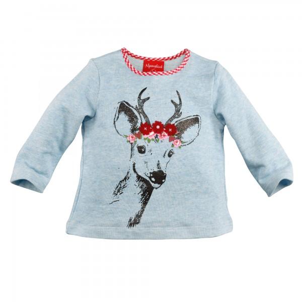 Baby Sweatshirt Hirsch hellblau
