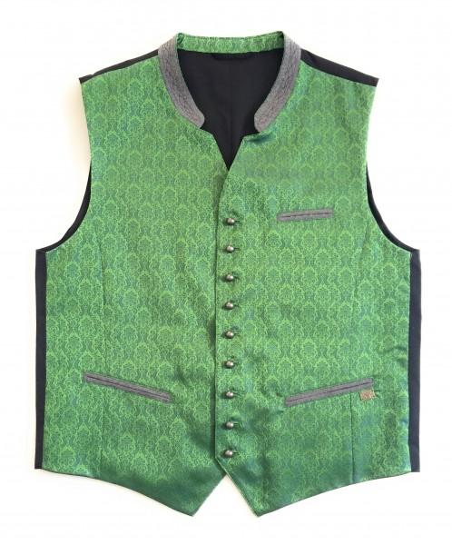 Herren Weste Jaquard/Loden grün/schwarz