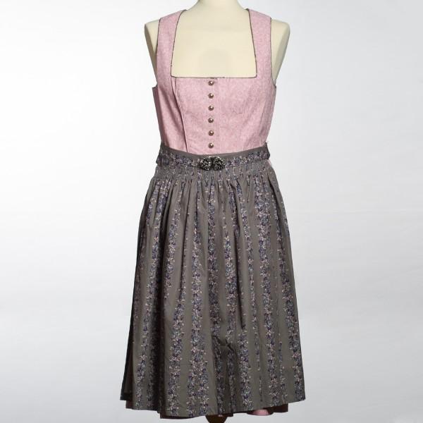 Damen Dirndl - grau/rosa