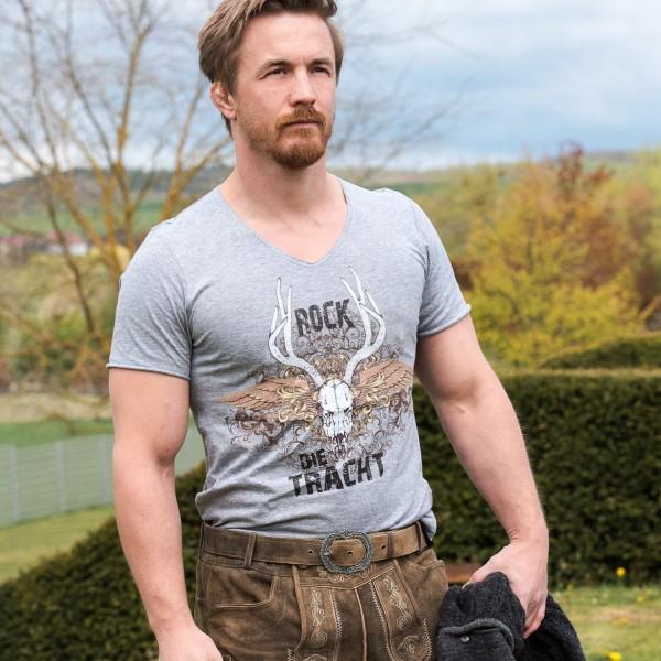 """Herren T-Shirt - """"Rock die Tracht"""" - grau"""